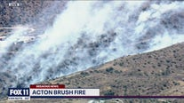 Brush fire sparks in Acton area