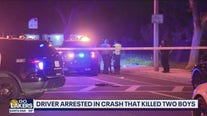 Driver arrested in crash that killed two boys