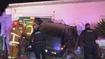 Woman killed after car slams into Pomona home