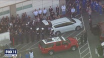 Procession held for firefighter killed while battling El Dorado FIre