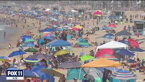 Large crowds flock to SoCal beaches over Labor Day weekend