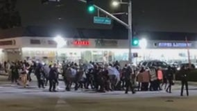 LASD deputies arrest dozens of 'anarchists' at South LA protest following shooting death of Dijon Kizzee