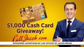 $1,000 giveaways with the law offices of Jacob Emrani
