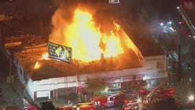 Fire damages commercial building in South Los Angeles
