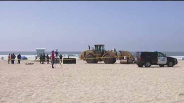 Tractor runs over, kills woman on California beach