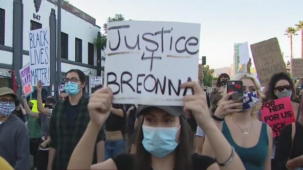 Third night of protests underway in Hollywood