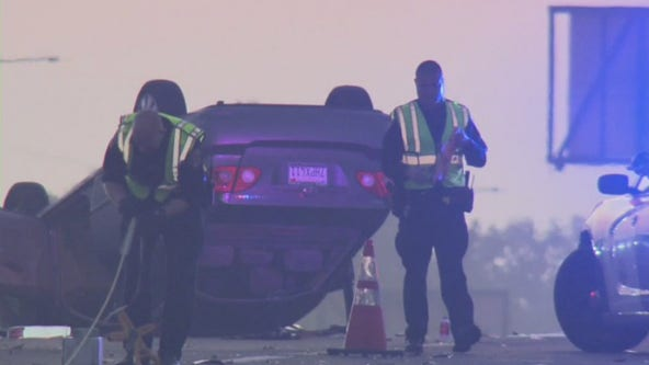 Deadly morning crash on southbound 405 Freeway snarls traffic for miles