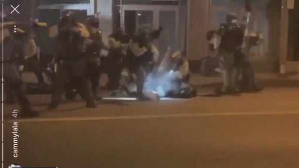 Controversial video of deputy hitting protester with shield now under investigation