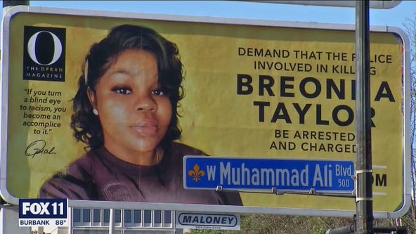 Protests in Los Angeles after 1 officer indicted in Breonna Taylor case