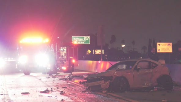 One killed, several injured in multi-vehicle crash on 91 Freeway in Bellflower