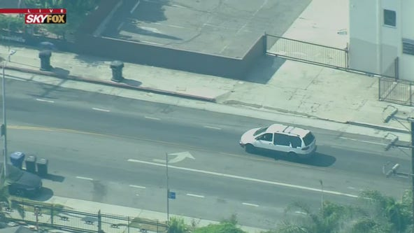 Man taken into custody following police pursuit in South Los Angeles