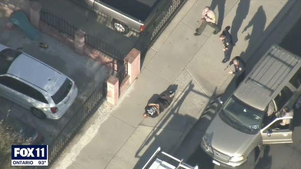 Suspect in custody after leading officers on pursuit from Riverside to Norwalk