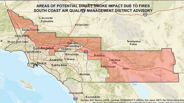 Smoke advisory extended for eastern Riverside County