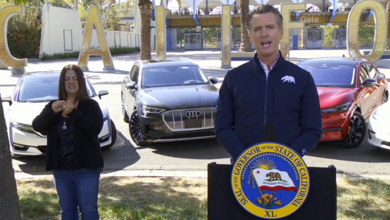 California governor signs executive order to ban gas-powered cars and trucks