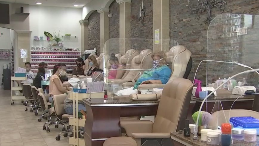 Nail salons, indoor shopping malls can reopen in Los Angeles County at 25% capacity