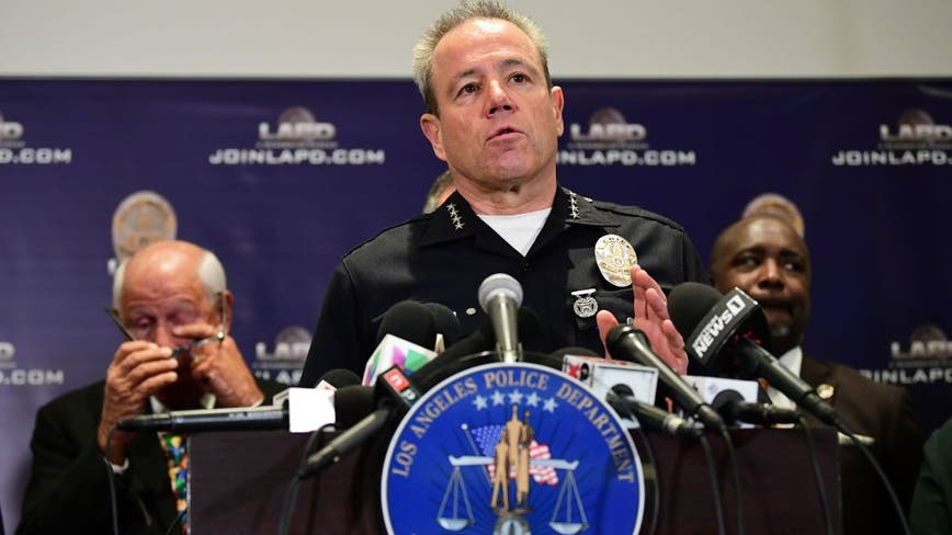 LAPD Chief says assaults on police officers have risen 156% since last year