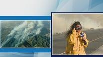 FOX 11's Sandra Endo moved from path of destruction amid Silverado Fire