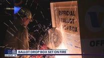 Ballot drop box set on fire in Baldwin Park