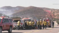 Two firefighters critically injured in Silverado Fire