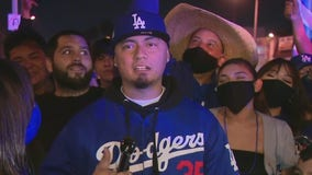 Party continues in East LA after Dodgers win