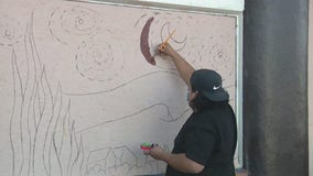 Community 'beautifies' boarded-up businesses in Lynwood