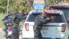 Suspect who shot at officers on 605 Freeway dead after hours-long standoff