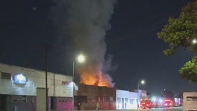 Massive blaze sparks at marijuana grow operation in Boyle Heights