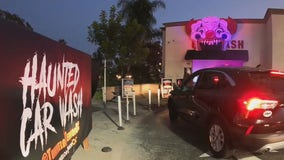 Car wash in OC transforms into scary 'Tunnel of Terror' for Halloween
