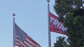 Trump flag hung at Long Beach Police headquarters