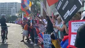 Rally held in OC, Armenian community calling on President Trump to sanction Turkey, Azerbaijan