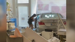 Car crashes into nail salon in Beverly Hills