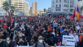 Thousands gather for pro-Armenia demonstration in Beverly Hills