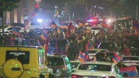 Armenians from LA travel to Washington D.C. to protest against Azerbaijani aggression