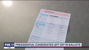 Presidential candidates left off Woodland Hills' man mail-in ballot