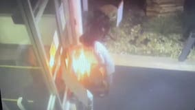 VIDEO: Man arrested for setting traffic cones on fire in front of Costa Mesa police station