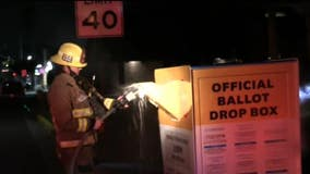 Search for suspect continues in Baldwin Park ballot box fire; Record voter turnout in LA County possible