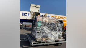 Cargo plane from Los Angeles delivers 20 tons of donated items, medical supplies to Armenia