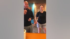 Couple threatens to sue OC yogurt shop over mask rule in new viral video