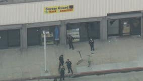 Robbery suspect fires at LAPD officers in Downtown LA