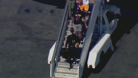 Los Angeles Lakers return to LAX after winning NBA Finals