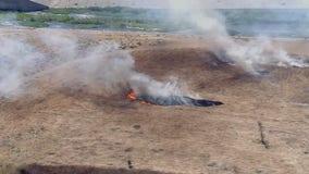 Brush fire in Sepulveda Basin prompts road closure in Van Nuys
