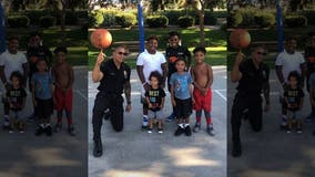 LAPD's 'Trick Shot Cop' scores on the basketball court