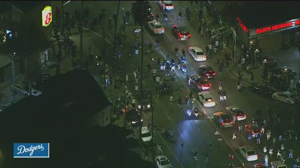Celebrations break out in Los Angeles after Dodger World Series victory