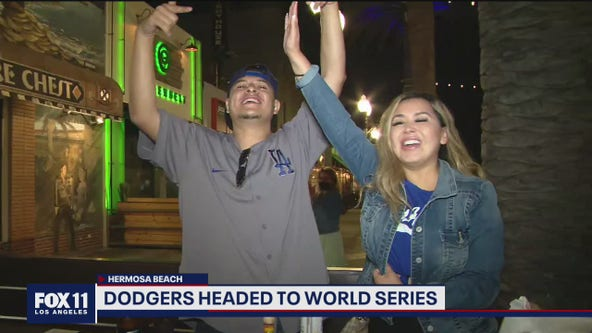 Fans excited the LA Dodgers headed to World Series