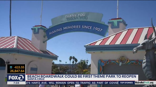 Santa Cruz Beach Boardwalk could be 1st amusement park in California to reopen