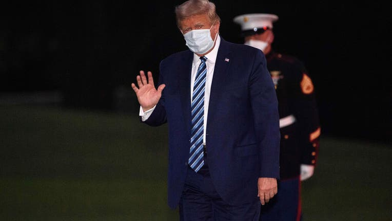 GETTY Trump With Mask 101020
