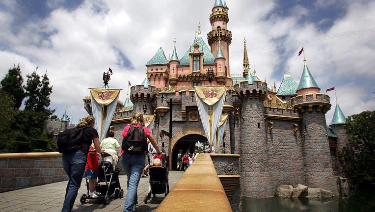 Sleeping Beauty's castle at Disneyland in Anaheim, California