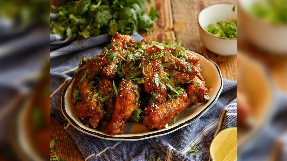 Zarela's Pineapple-Ginger Chicken Wings with Soy-Pineapple Glaze cooked by Chef Aaron Chanchez