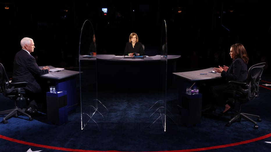 26b65e08-Mike Pence And Kamala Harris Take Part In Vice Presidential Debate