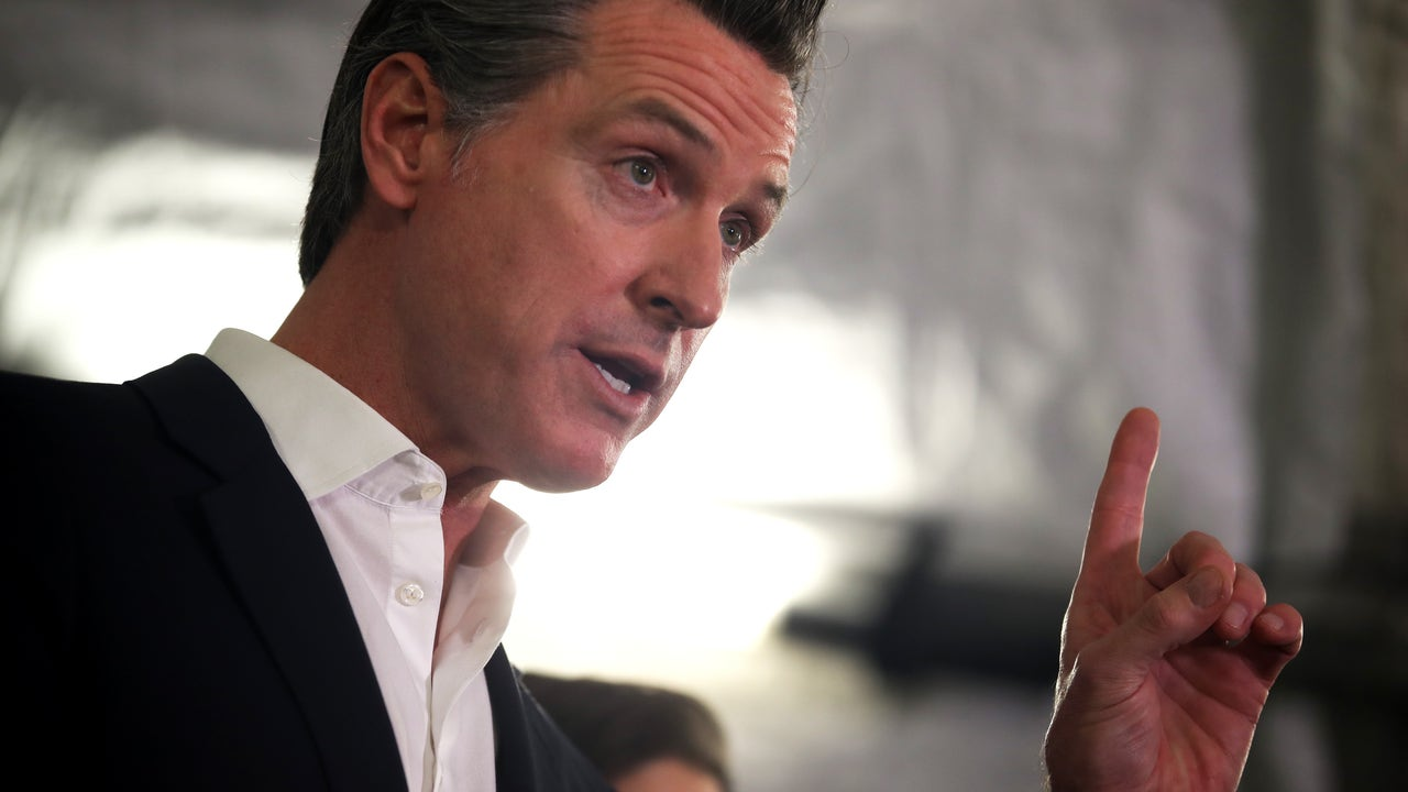 California Governor Gavin Newsom announces new stay-at-home order
